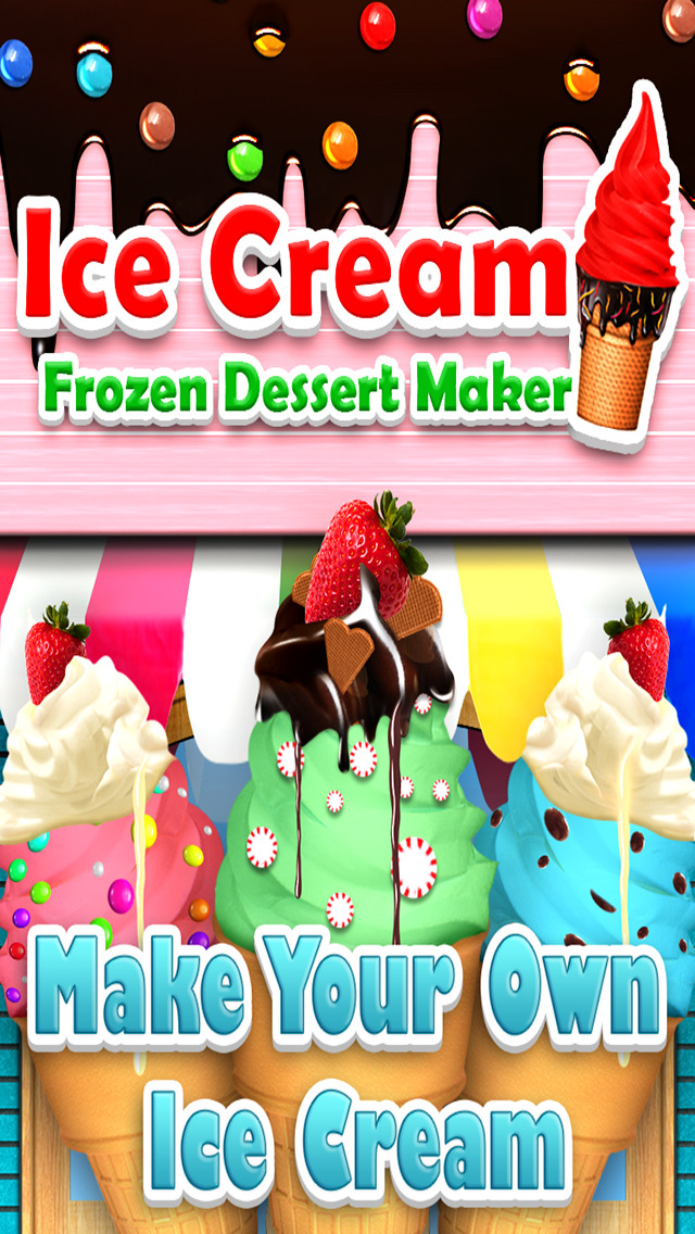 `Awesome Ice Cream Maker - Frozen Food Dessert  Free screenshot 1