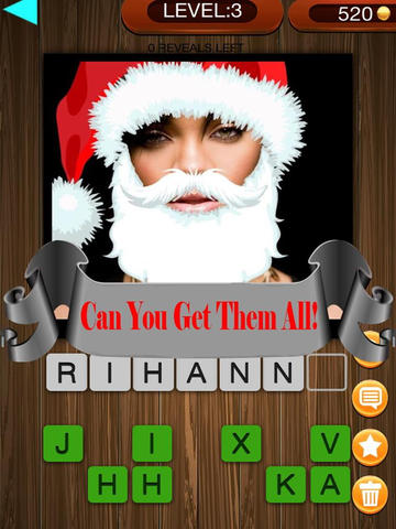 Christmas Factor Celebrity Santa Guess Who Pics Trivia Quiz - The Free App screenshot 9