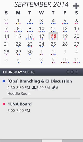 Agenda Calendar 4 screenshot 1