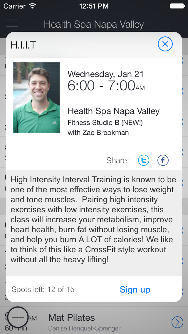 Health Spa Napa Valley screenshot 2