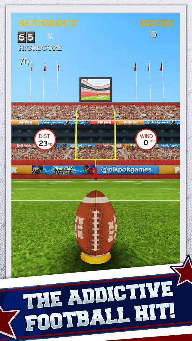 Flick Kick Field Goal Kickoff screenshot 2