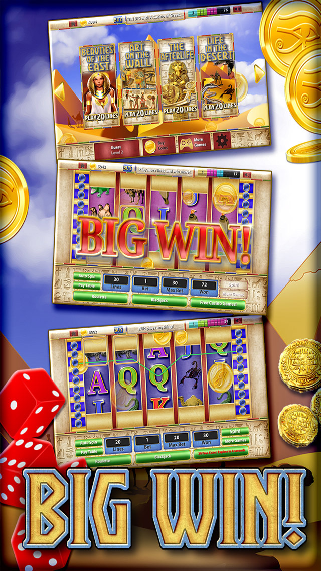 A Slots Cleopatra's Way Egypt Queen Casino 777 PRO (Blackjack & Roulette Casino) screenshot 2