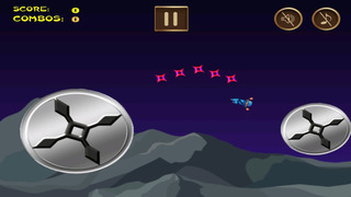 Awesome Flying Ninja Boy Pro - crazy sky flight racing game screenshot 1