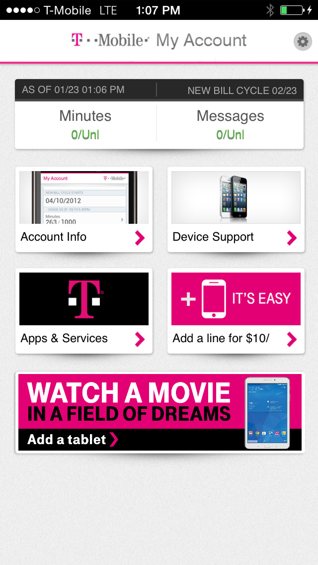 T-Mobile screenshot 2