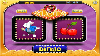 A Lucky Rabbit Slots Game - Vegas Wonderland Casino Games HD screenshot 2