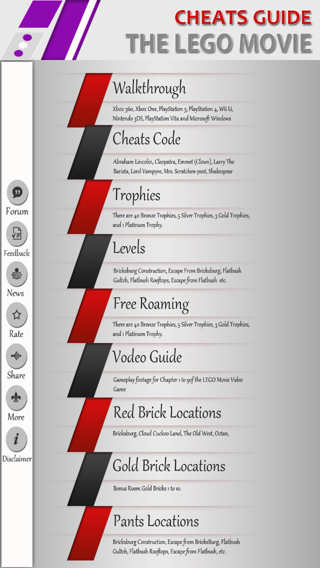 Guide for The Lego Movie - Walkthrough,levels & Trophies screenshot #1