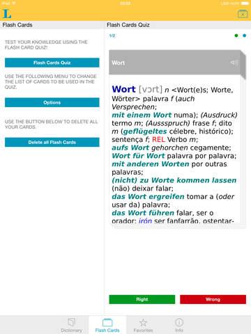 Portuguese <-> German Dictionary Standard screenshot 8