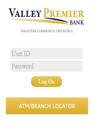 Valley Premier Bank Mobile Banking - náhled
