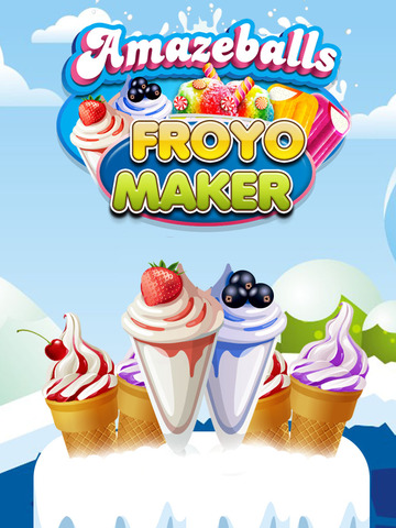 """ A AmazeBalls Candy Froyo Maker – Customer Frozen Yogurt Creator Free screenshot 6"