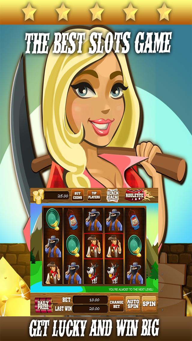 AAA Gold Mine Slots - 777 Free Casino Slot Machine Games screenshot 1