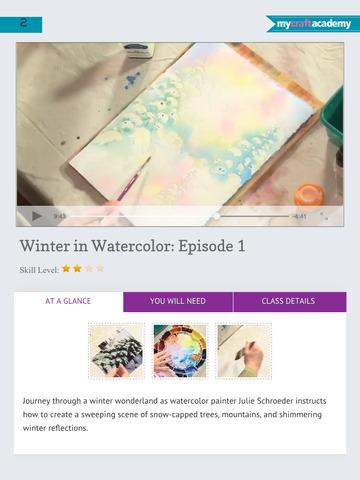 Paint a Winter Landscape in Watercolor screenshot 9