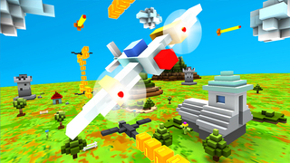 Blocky Plane Gold screenshot 1