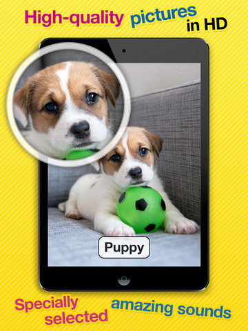 Smart Baby Touch HD - Amazing sounds in toddler flashcards of animals, vehicles, musical instruments and much more screenshot 7
