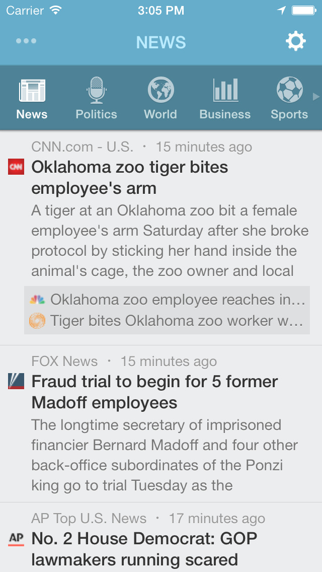 NewsFlash™ screenshot 1