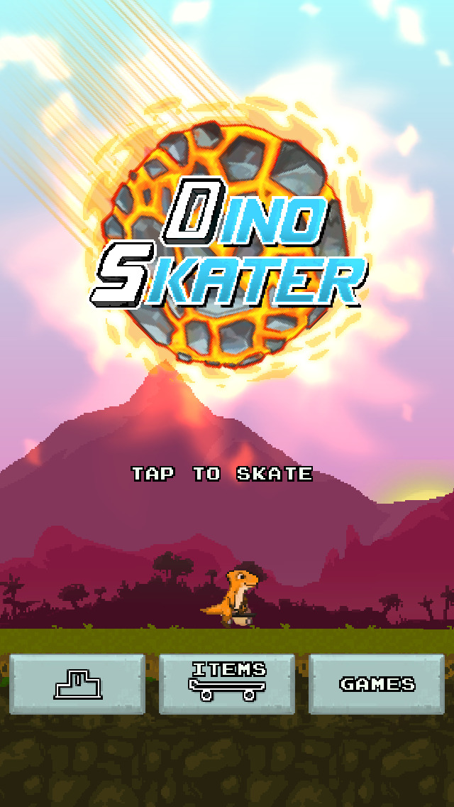 Dino Skater screenshot 1
