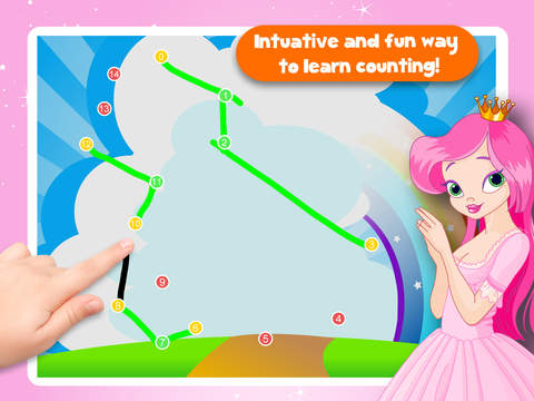 Free Kids Puzzle Teach me Tracing & Counting with Princesses: discover pink pony's, fairy tales and the magical princess screenshot 9