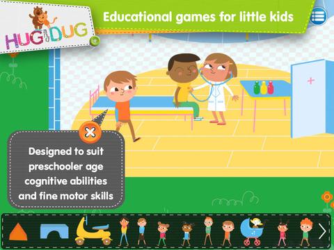 DayCare Explorer - HugDug kindergarten and nursery activity game for little kids. screenshot 4