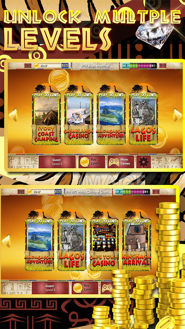A Africa Slots of Sun 777 PRO (Kalahari Lucky Bonus Wheel Casino Game) screenshot 4