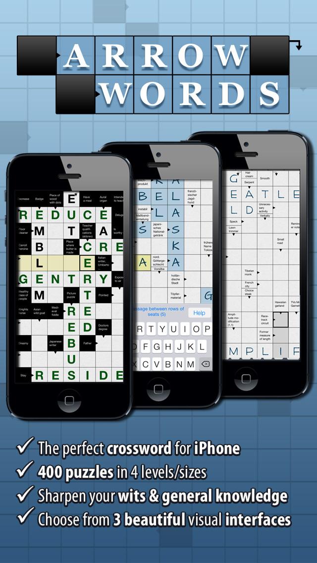 Crossword: Arrow Words. Smart Crossword Puzzles for iPhone screenshot 1