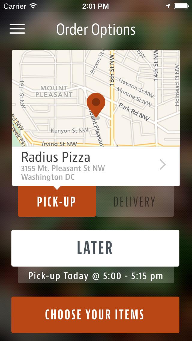 Radius Pizza DC screenshot 2