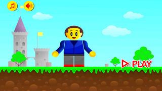 RGB Man Express Run - Red Blue Man Running in Green World screenshot 1