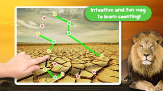 Kids Puzzle Teach me Tracing & Counting with Wild Animals Photo: Draw your own giraffe, zebra, hippo and lion and learn all about the safari screenshot 4