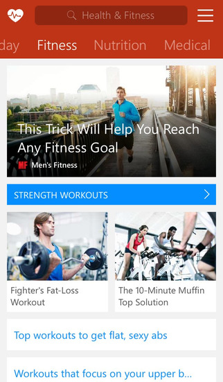 MSN Health & Fitness screenshot 2