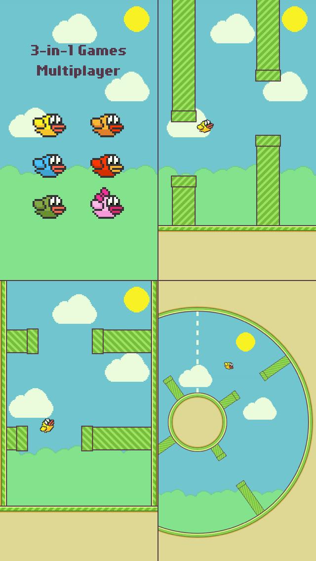 Flappy Family Bird Arcade screenshot 1