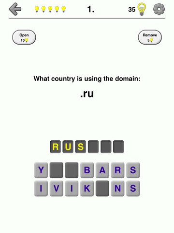 Internet Top-Level Domain Names Quiz - Generic and Country Codes screenshot 9