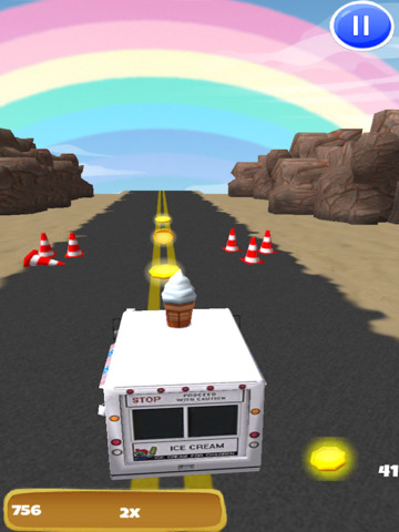 An Ice Cream Truck Race: 3D Driving Game - FREE Edition screenshot 9