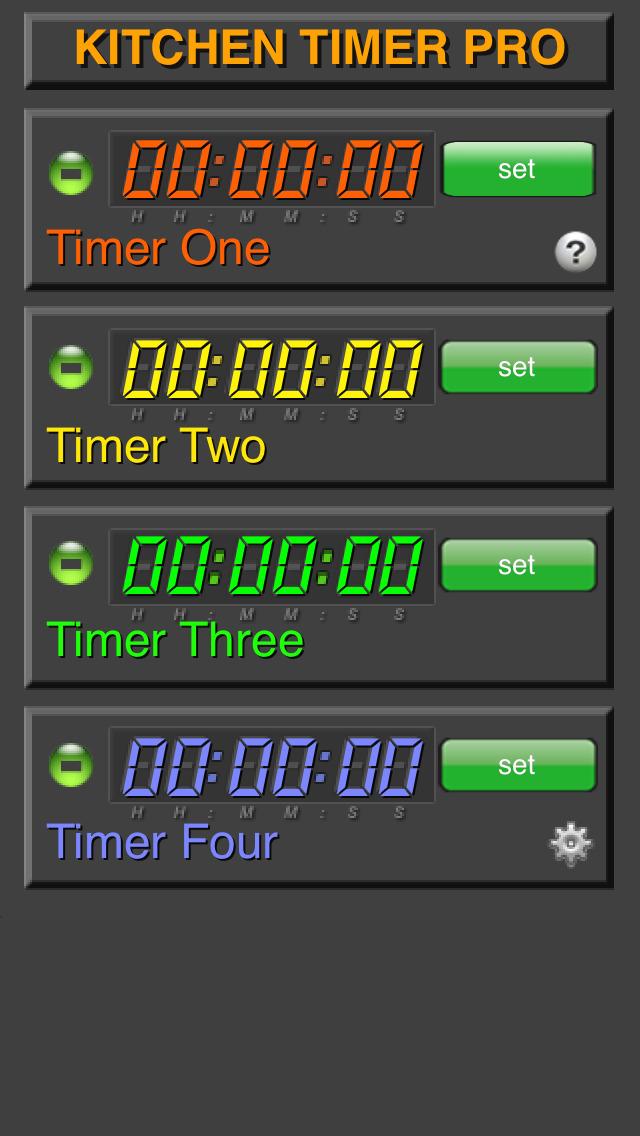 Kitchen Timer Pro screenshot 2