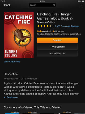 Amazon Kindle screenshot 9