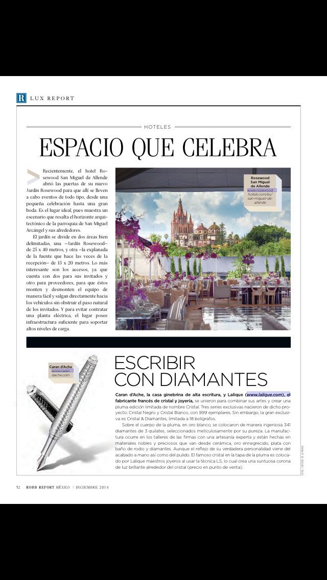 Robb Report México screenshot 3
