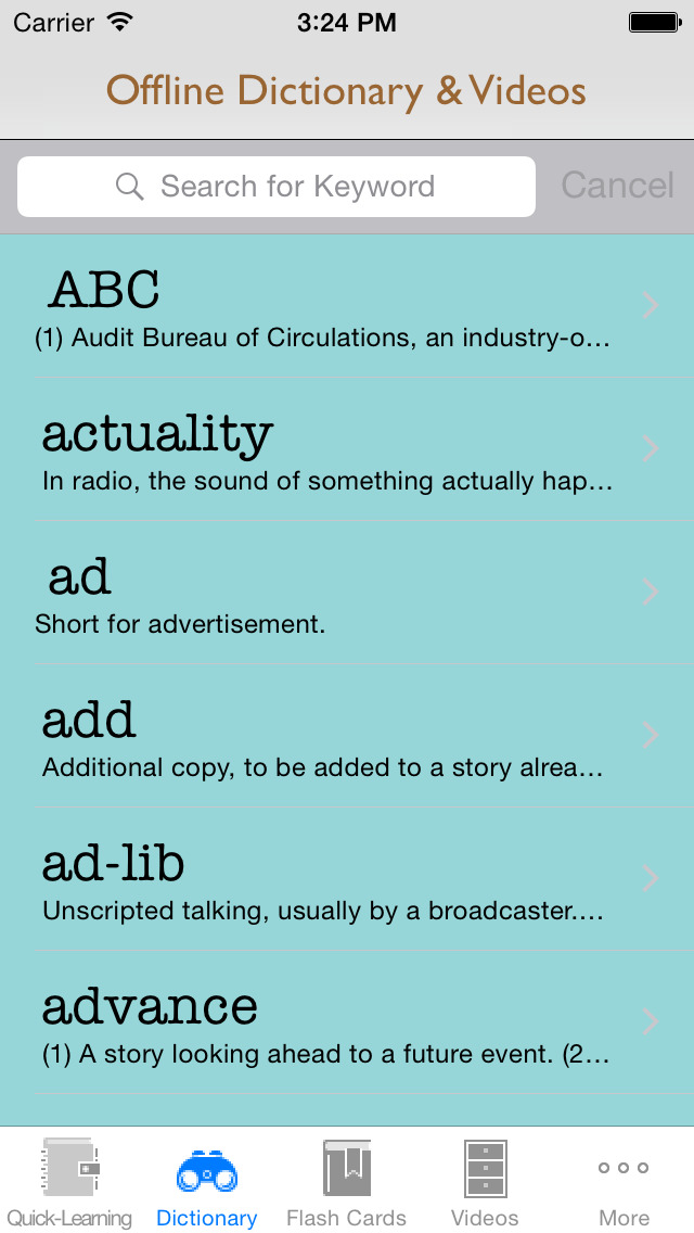 Journalism and Media Dictionary: Flashcard with Free Video Lessons and Cheatsheets screenshot 3