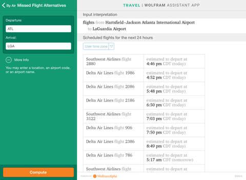 Wolfram Travel Assistant App screenshot 7