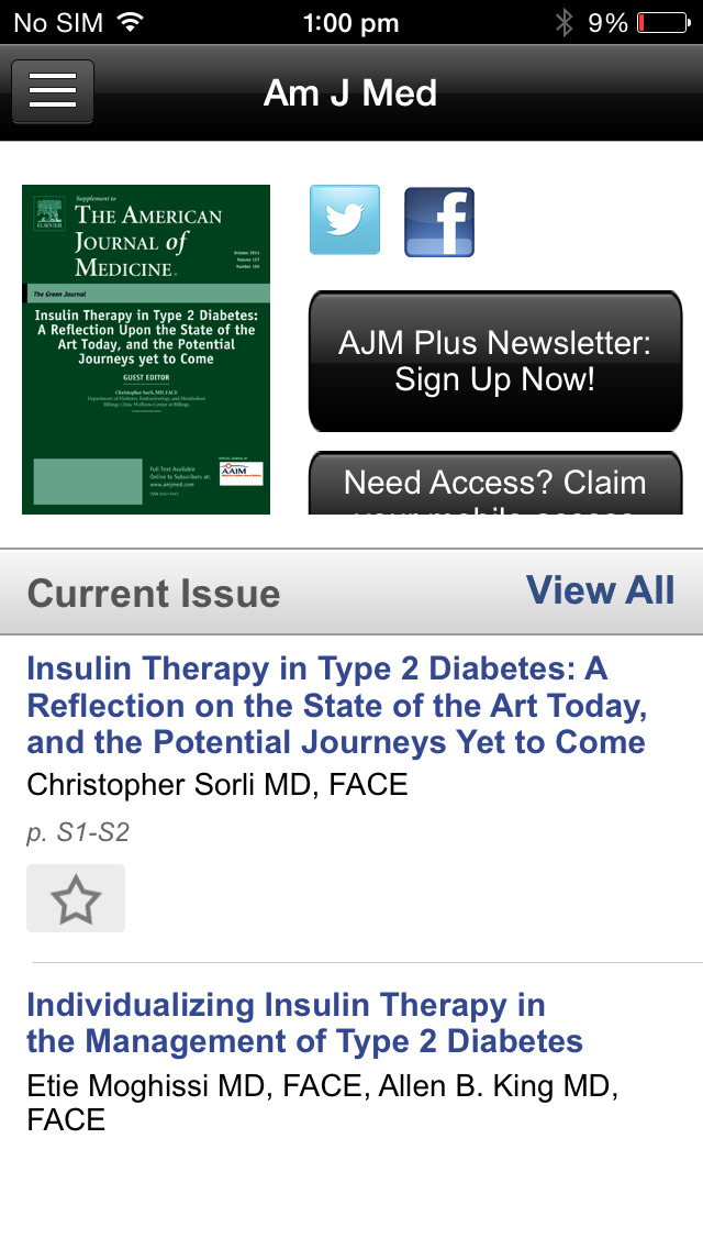 American Journal of Medicine screenshot 3