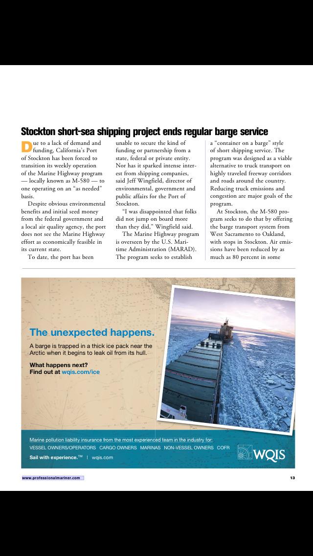 Professional Mariner Magazine screenshot 3