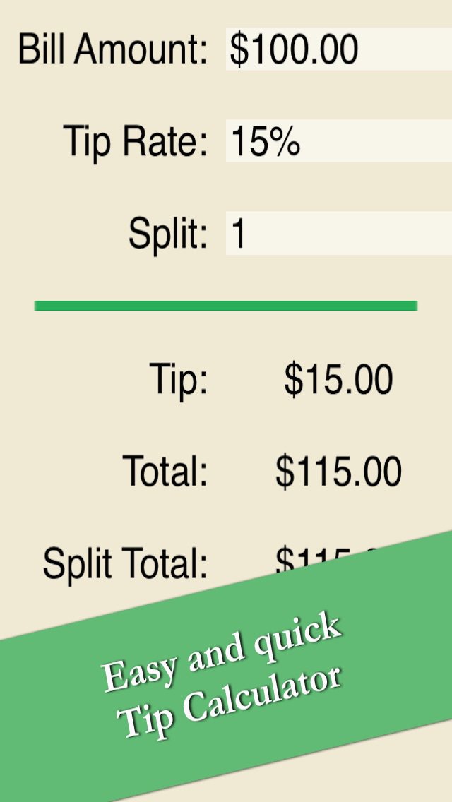 Calculate Tip - Easy Restaurant Gratuity Calculator Free screenshot 1