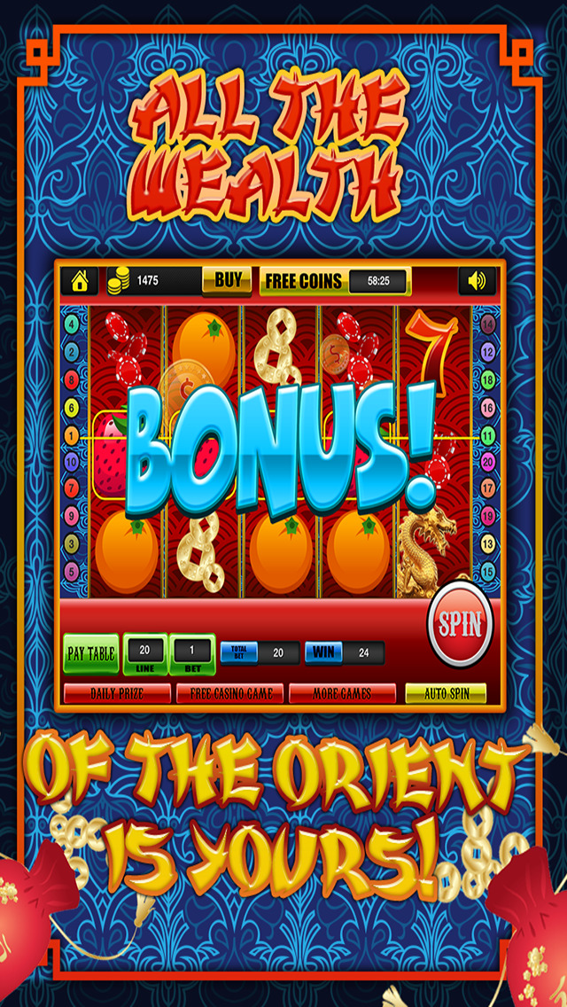 Ace Classic Slots China Dragon Dynasty - Gold Fortune Slot Machine Casino Games Free screenshot 2