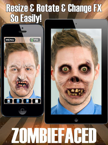 ZombieFaced Pro Edition -The Scary Zombie & Horror FX Face Booth screenshot 6