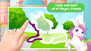 Kids Ponies Puzzle Teach me Tracing & Counting - Learn about pink ponies, cute fairies and princesses screenshot 2