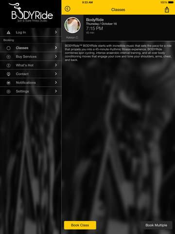 BodyRide Spin and Barre Fitness Studio screenshot #2