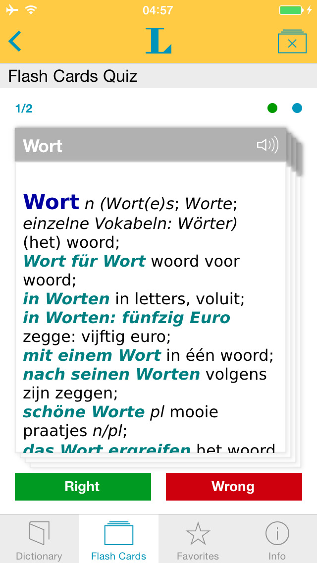 German - Dutch Dictionary screenshot 3