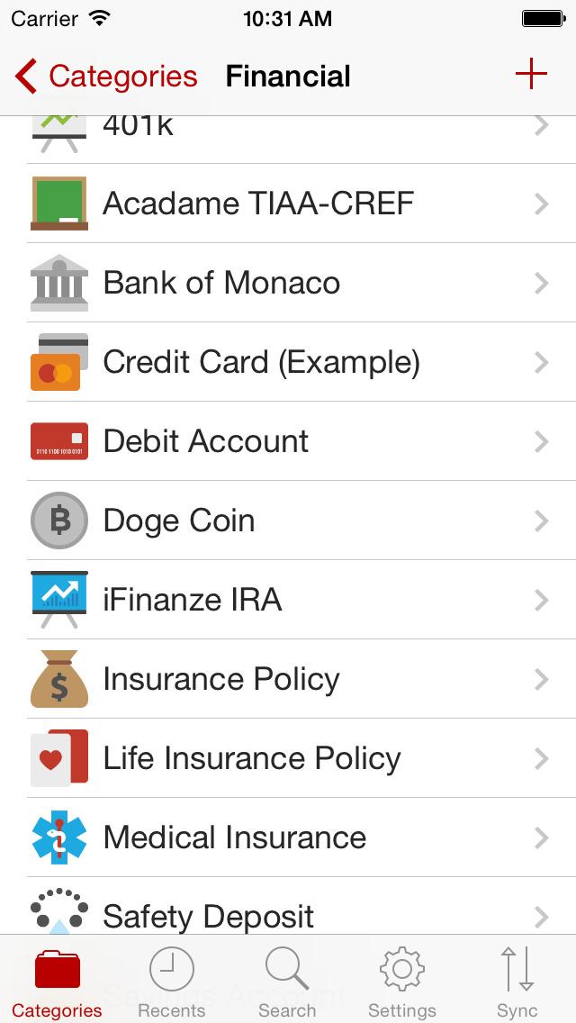 Codebook Password Manager screenshot 2