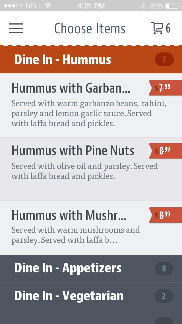 Hummus Bar & Grill screenshot 3