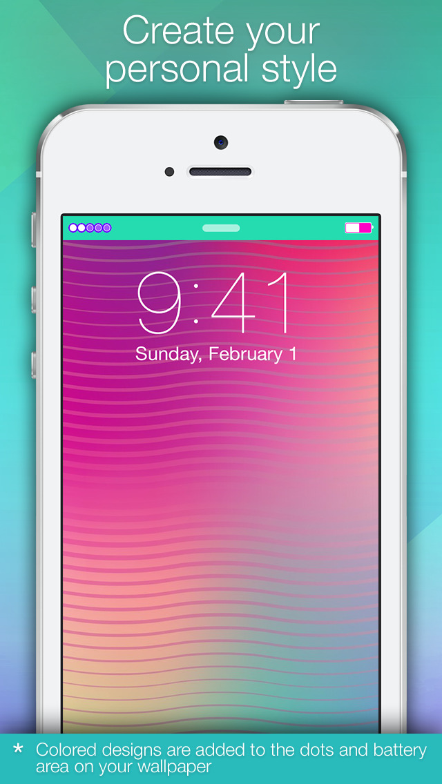Status Bars - Free Top Bar Backgrounds and Wallpapers for Home & Lock Screens by Pimp Your Screen screenshot 5