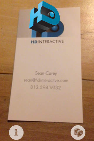 HD Interactive Augmented Reality Business Card - náhled