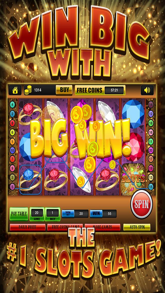 Ace Gem & Jewel Slots Jackpot Machine Games - Lucky Spin To Win Prize Wheel Casino Game HD screenshot 1