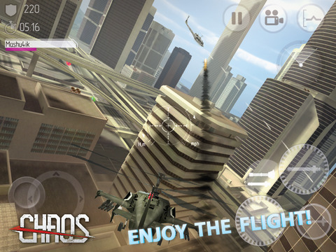 CHAOS Combat Copters -‐ #1 Multiplayer Helicopter Simulator 3D screenshot 8
