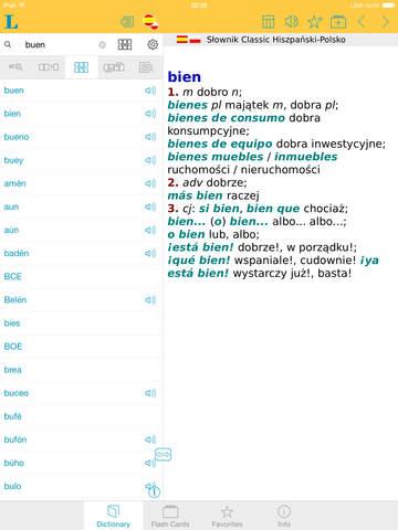 Słownik CLASSIC polsko <-> hiszpańsko screenshot 9